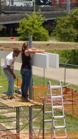 Architecture students working on Solar Pavillion