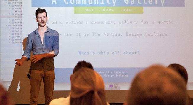 Image from a CxC Digital Media Fest entry presentation