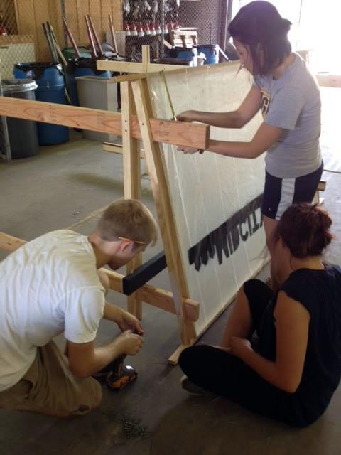 Students prepare community boards