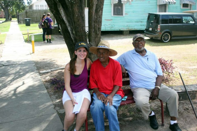 Students interviewed Mid City residents