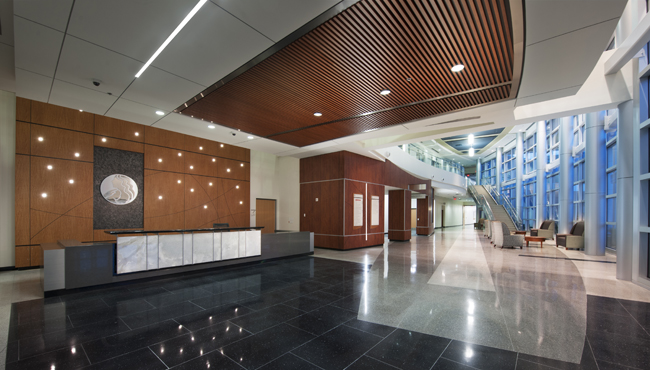 Commercial Design Interiors received a gold Excellence in Design Award from ASID for the Woman's Hospital in Baton Rouge.