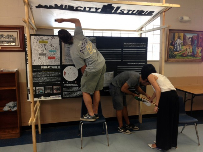 students install feedback panel at st vincent de paul