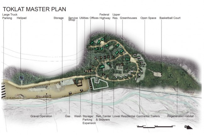 Student Andrew Plat's master plan for Toklat River Campsite