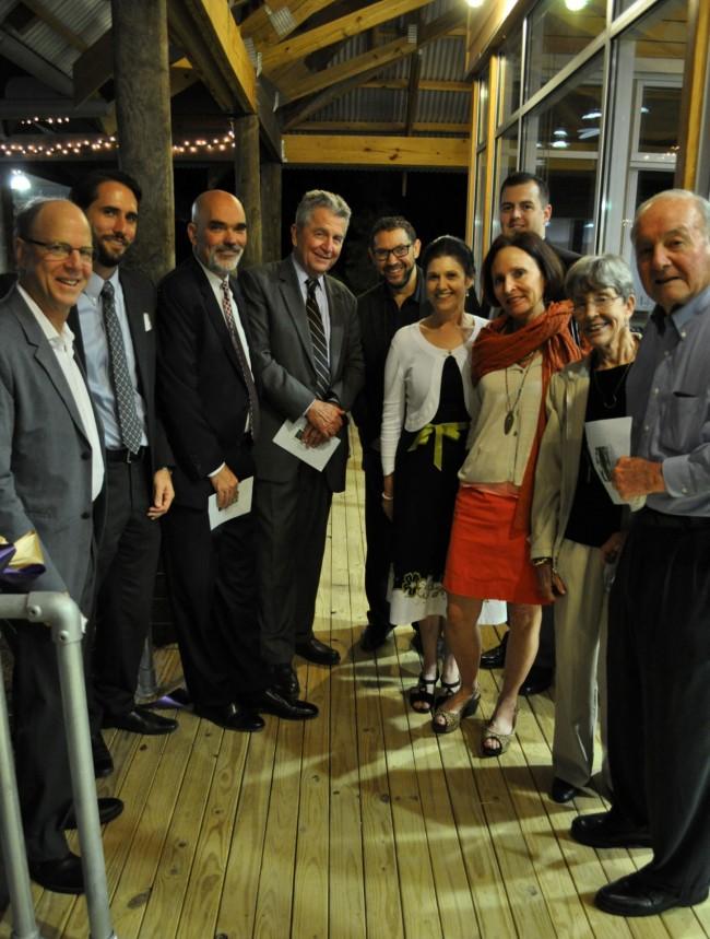 From left: Ted Flato, Bradley Cantrell, John Murrill, Alkis Tsolakis, Joe Benjamin, Peggy Coates, Keith Keller, Cathy Coates, Beverly Coates and Dudley Coates