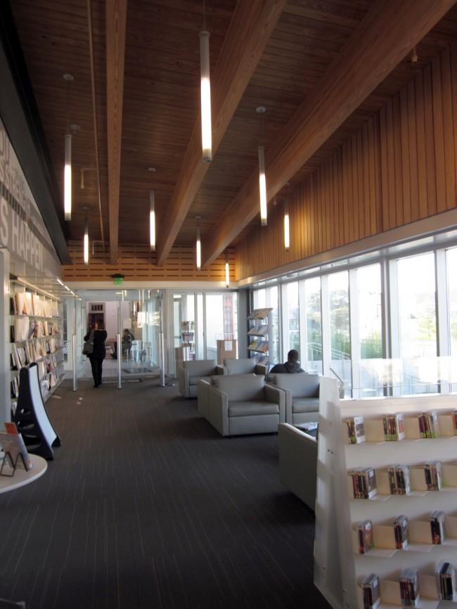 Interior of Rosa F. Keller Library