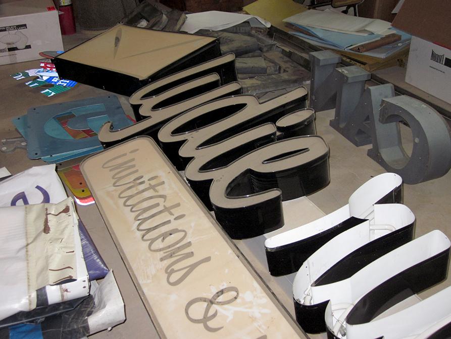 Large lettering