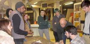 lsu school of art visiting artist nari ward speaks to group of art students