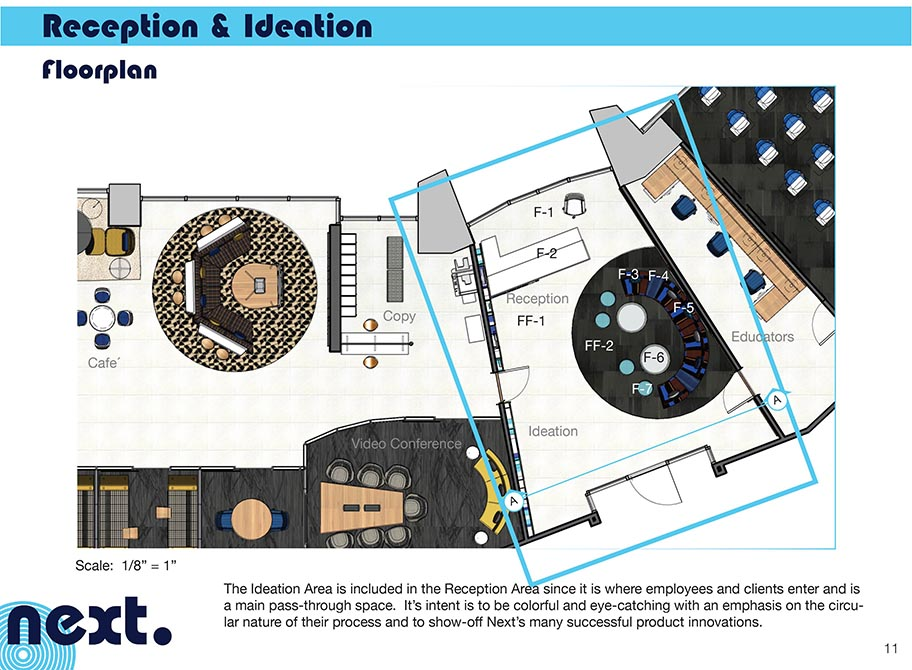 Reception and ideation floorplan