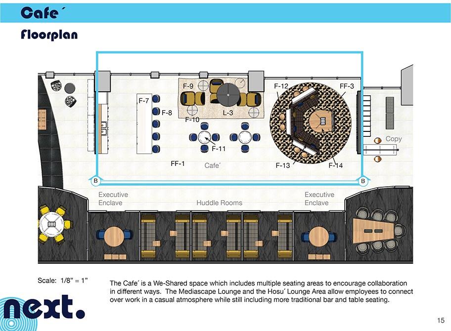 Cafe floorplan