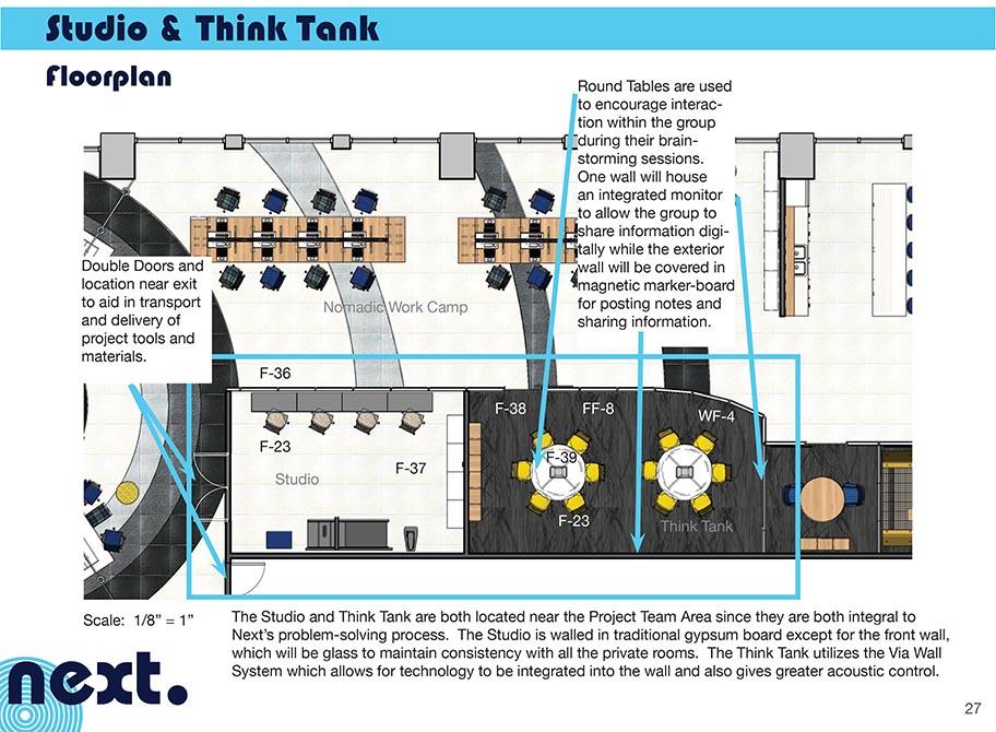 Studio and think tank floorplan