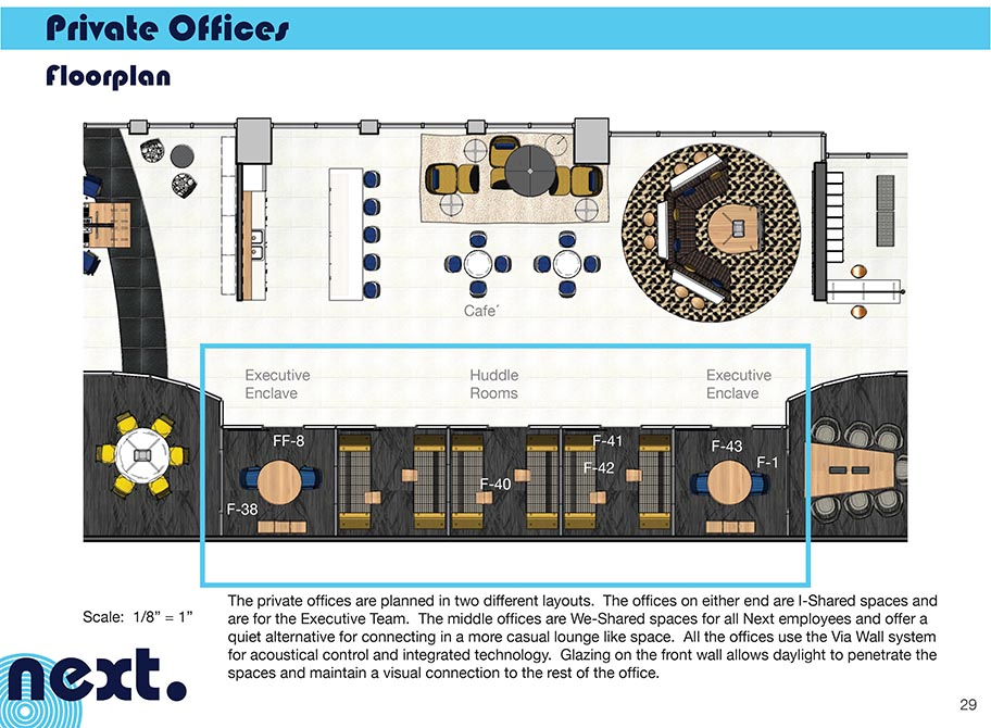 Private offices floorplan