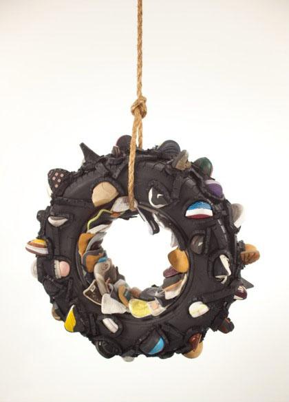 Tire Swing sculpture, lsu museum of art rooted communities