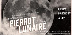 lsu pierrot lunaire event poster