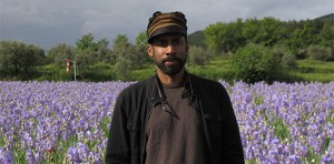 lsu school of art visiting artists nari ward in field of purple flowers