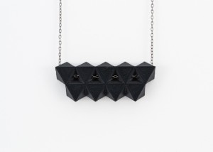lsu architecture alumni created 3D printed black jewelry