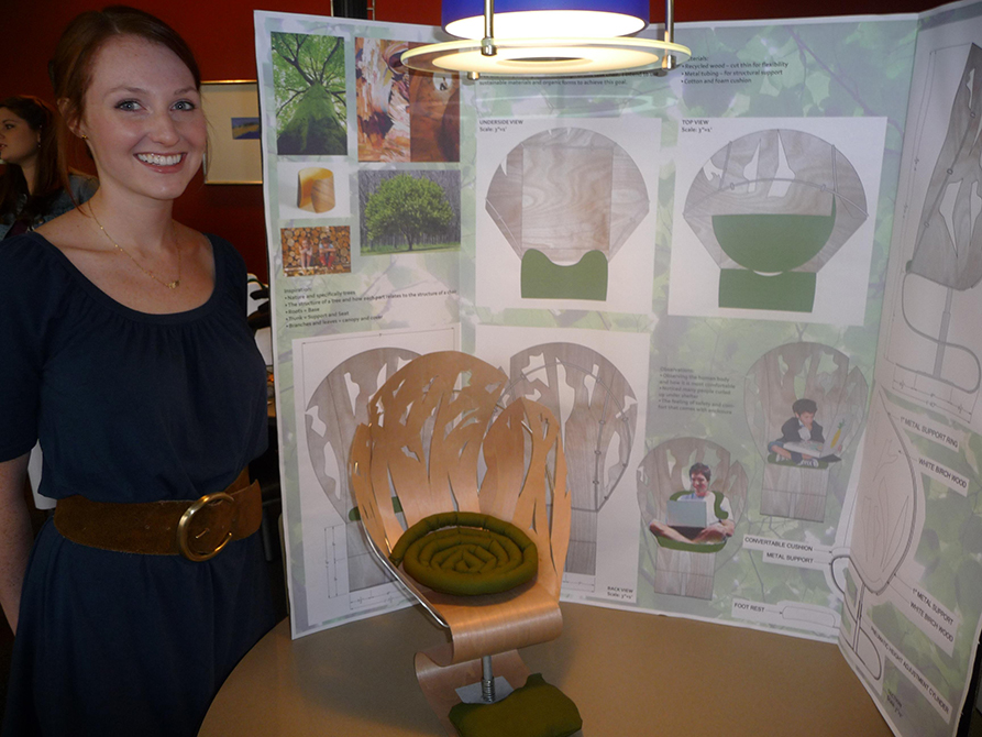lsu interior design student exhibit at conference