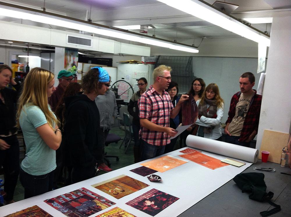 Printmaker Ben Rinehart visits Print Club