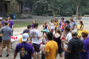 lsu architecture students at AIAS tailgate