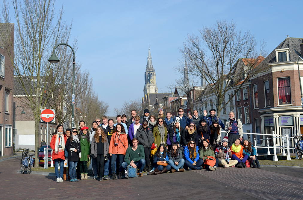Landscape Architecture students in French village