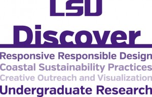 lsu discover logo for college of art & design