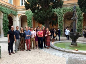 lsu students and faculty at the american academy in rome courtyard