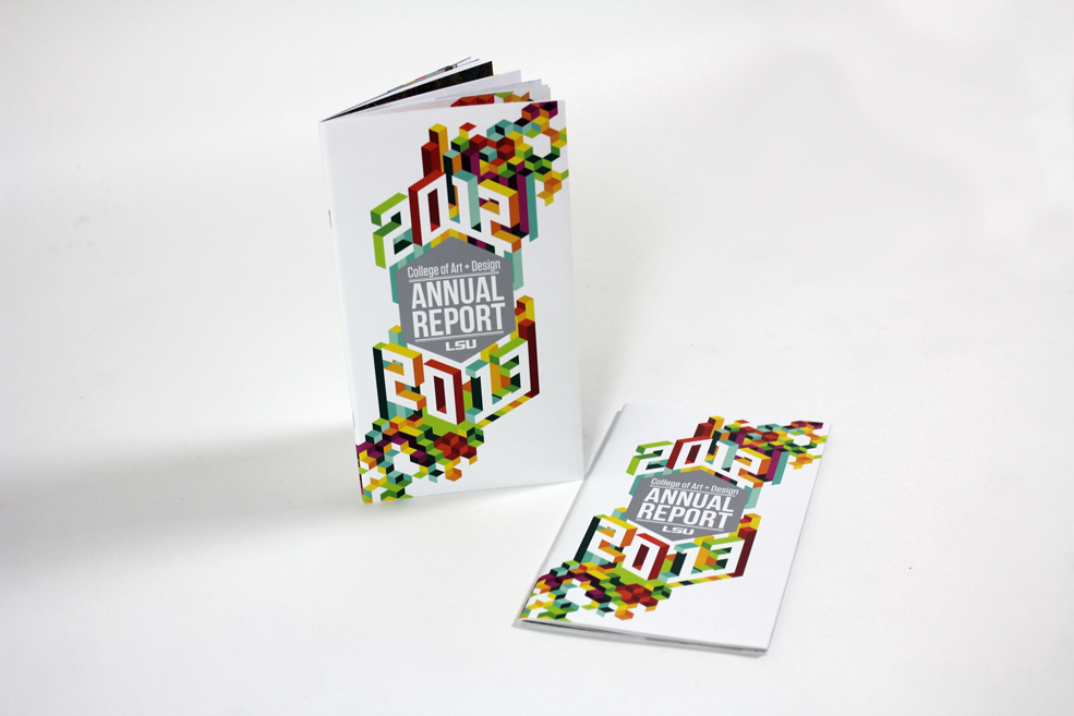 GDSO students designed the College of Art & Design 2012-13 Annual Report