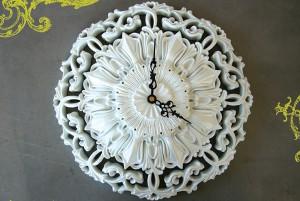 Ornate white clock