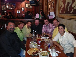 lsu landscape architecture alumni at the Chimes restaurant by LSU campus