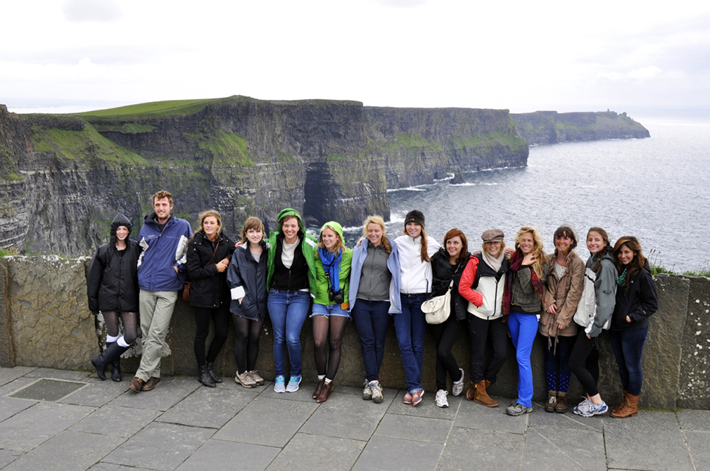 Students by Cliffs of Moher