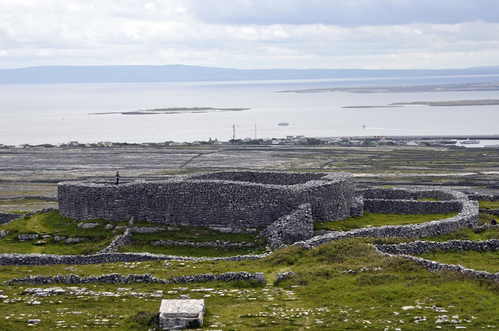 remains at Dun Eochla, Aran Islands