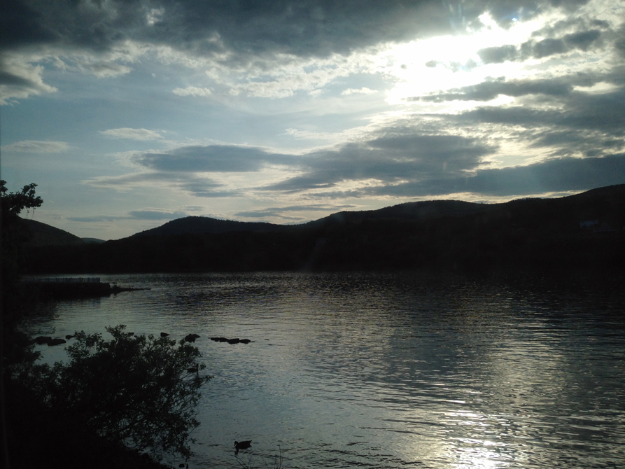 Hudson River at twilight