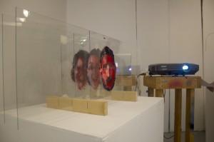 Art installation at lsu school of art grad walk
