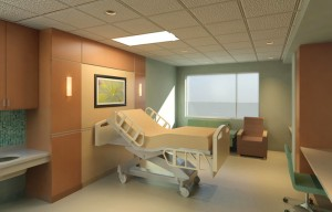 Medical patient room interior, lsu interior design alum jennifer harris mitchell work