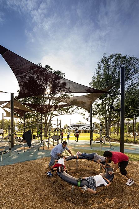children playing in park, lsu landscape architecture alumni work