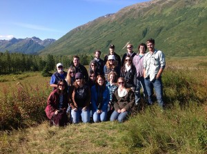 Group of students in Alaskan nature
