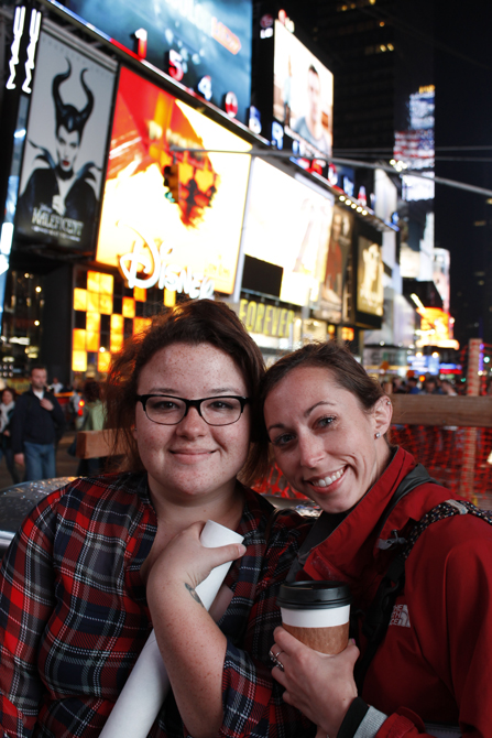 Students in Times Square