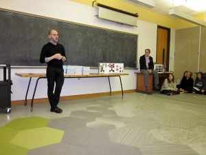 lsu interior design alumni michael talbot bid 2009, man in black clothing in classroom