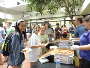 LSU college of art and design pizza party