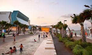 Gulf-side promenade, lsu landscape architecture alumni design
