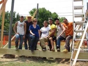 lsu students build solar pavilion