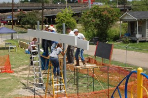 lsu students build solar pavilion