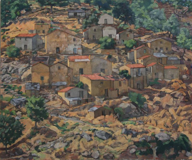 Mediterranean village, lsu art faculty work