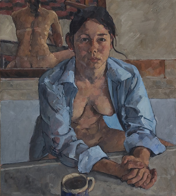 painting of woman, lsu art faculty work