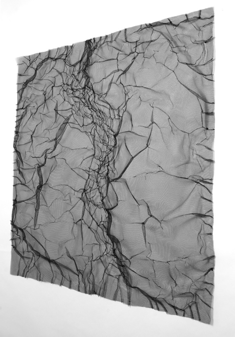 Crinkled netting piece by Loren Schwerd