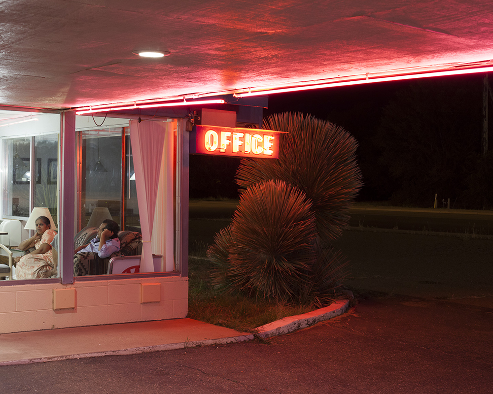 "Glowing sign says ""office."" by Jeremiah Ariaz"