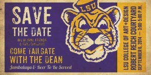 tailgate save the date