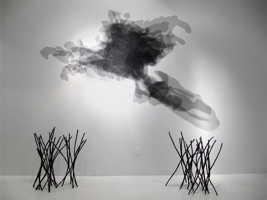 Loren Schwerd art, abstract in black and white