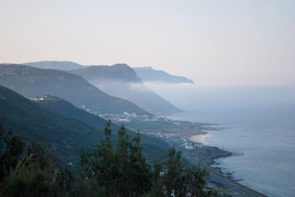 LSU in South Africa, Cape Peninsula views of mountains by ocean