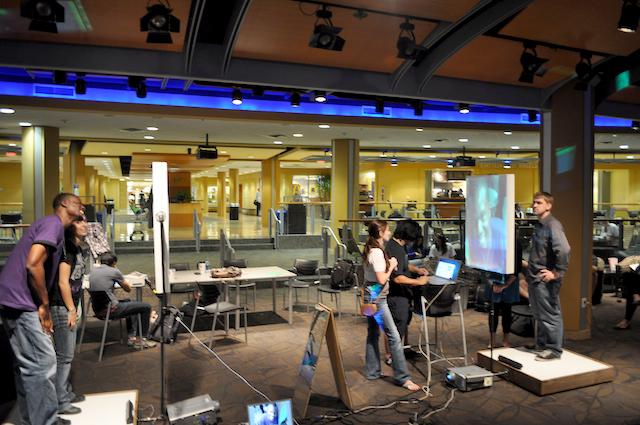 Modern center with tech