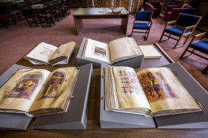 Scholars can view Hill Memorial Library's rare book collection.